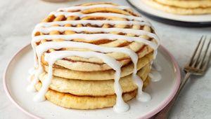 Thumb cinnamon roll pancakes