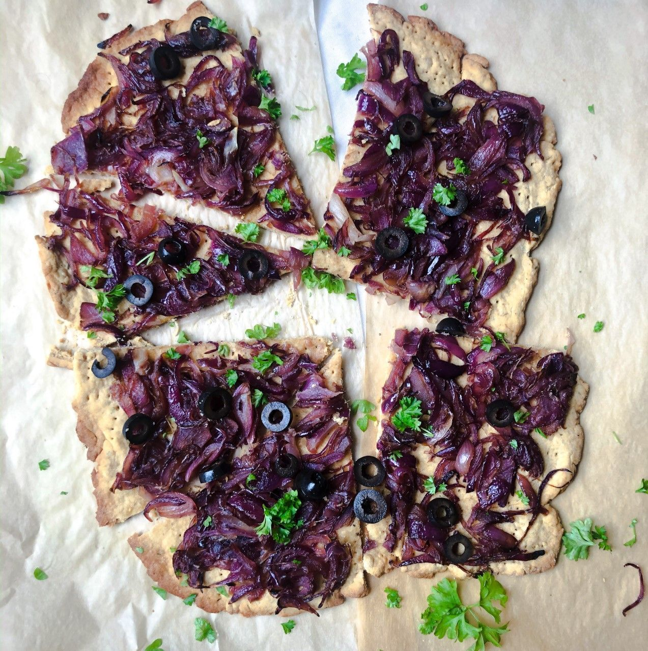 Vegan honeypot flatbread