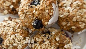 Thumb 2. blueberry oat muffins photo 2