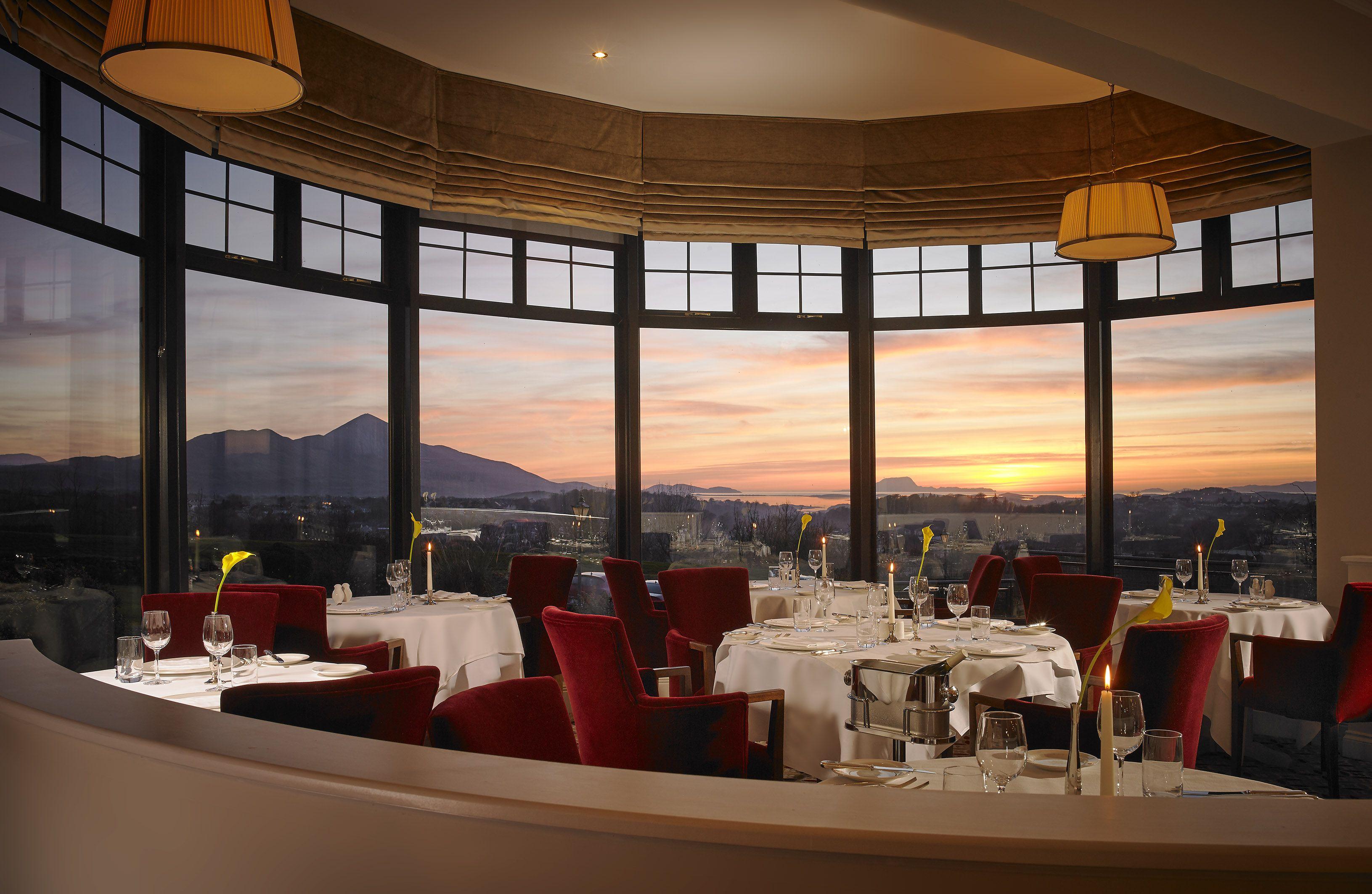 La_fouge_re_restaurant_at_sunset_-_knockranny_house_hotel