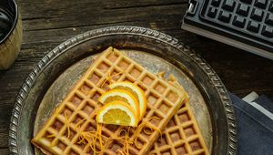 Thumb gluten free almond waffles with orange glaze 1 hero