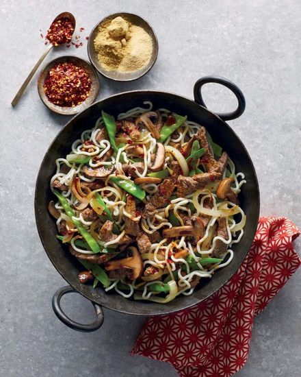 Featured chinese beef and cabbage stir fry