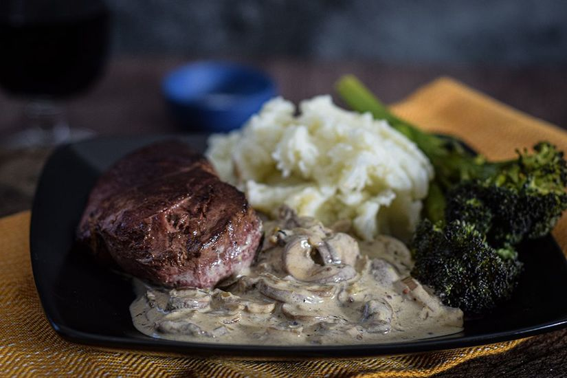 Featured venison with stroganoff sauce edit