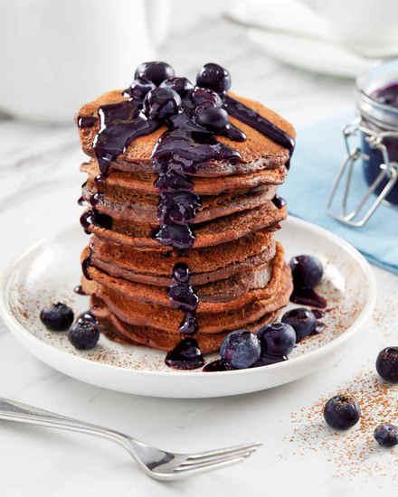 Featured vegan choc pancakes