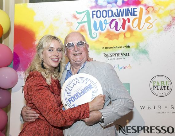 Current editor, Dee Laffan, with Ernie at this year's F&W Awards