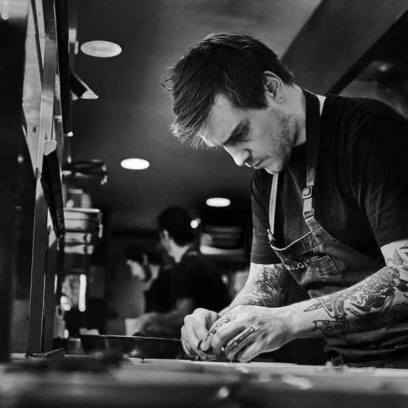 Matt Stone. Image taken from @chefmattstone on Instagram. Photo by @brentlukey on Instagram.