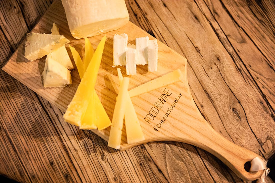 Cheese from Sheridans Cheesemongers on our FOOD AND WINE #CheeseYourWay cheeseboards from Caulfield's Country Boards. Photo by Ailbhe O'Donnell.