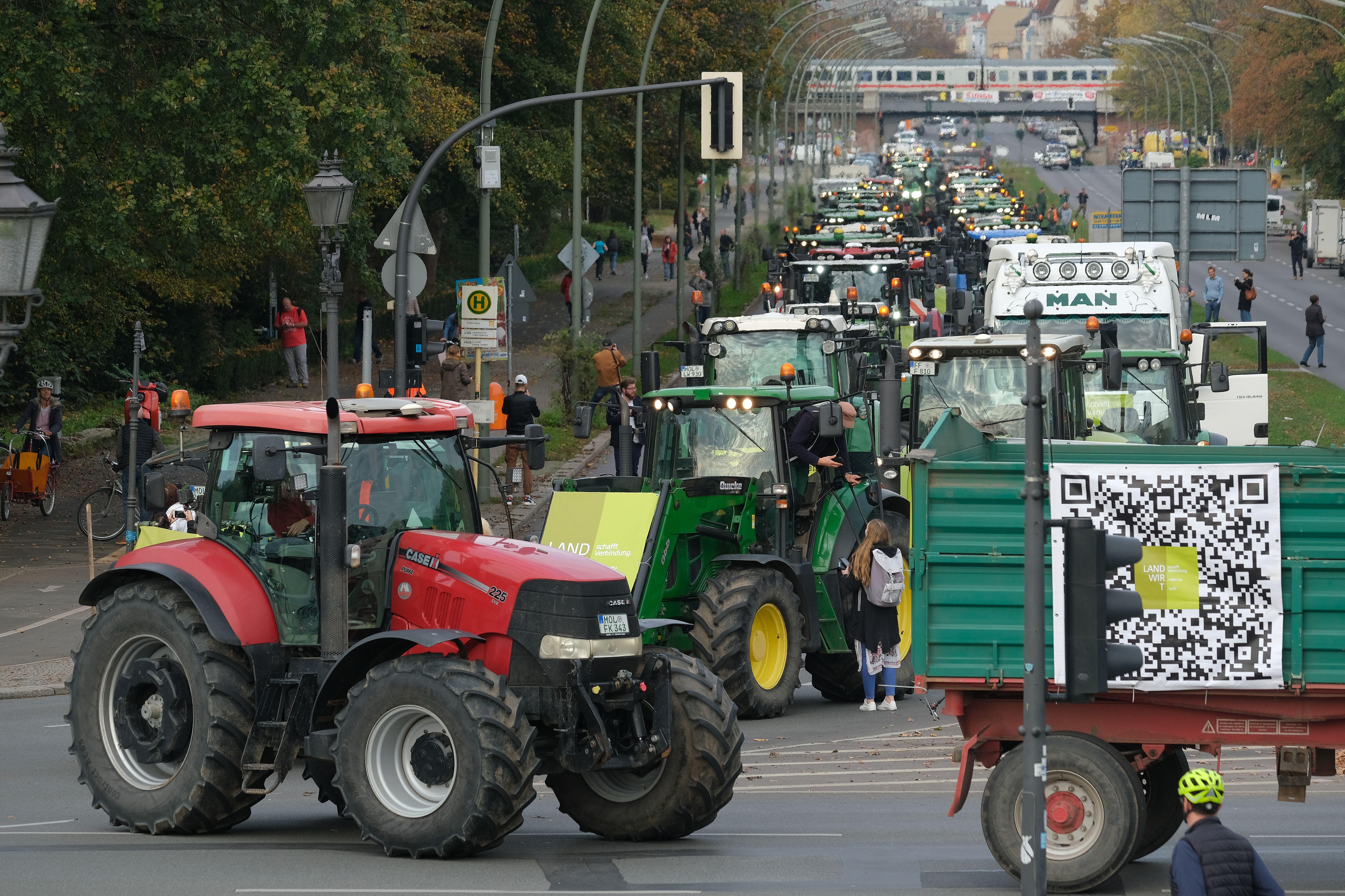 Farmer protests in Berlin, Germany in October 2019