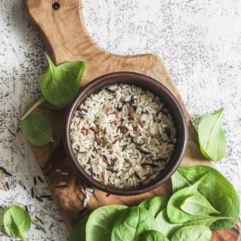 Including rice in a vegan diet can help to fill you up, image by Getty Images
