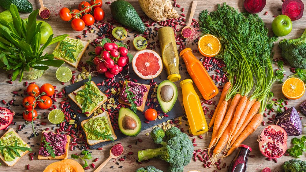 Assortment of vegan food, image by Getty Images