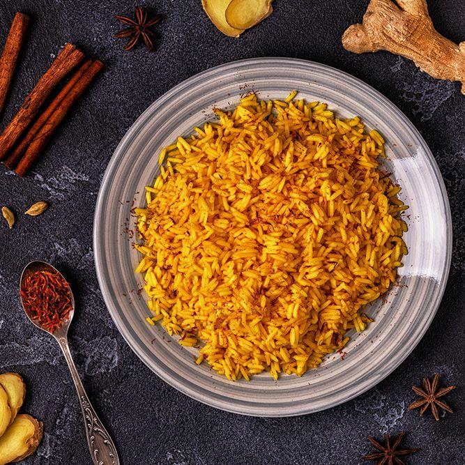 Saffron rice. Image: Getty Images