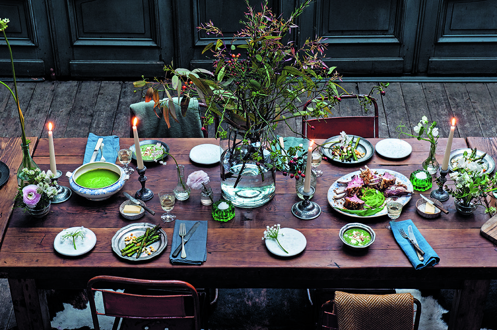 Spring table setting by Clodagh McKenna. Photo: Dora Kazmierak