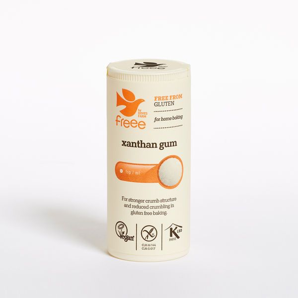 Xanthan gum. Image from www.dovesfarm.co.uk.