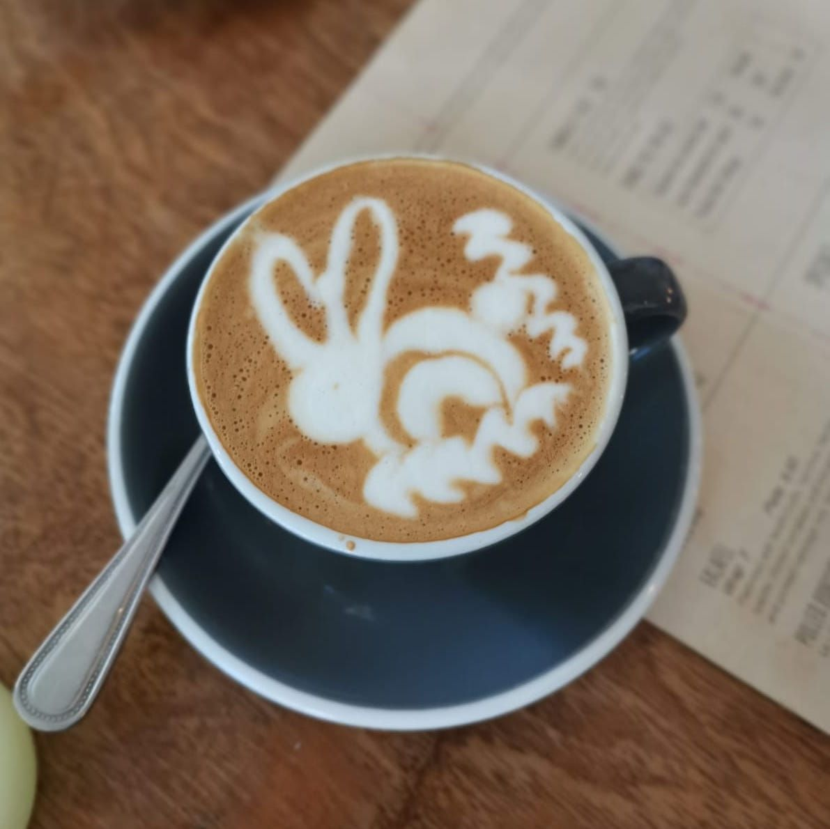Coffee art from The Fumbally. Image: Dee Laffan.
