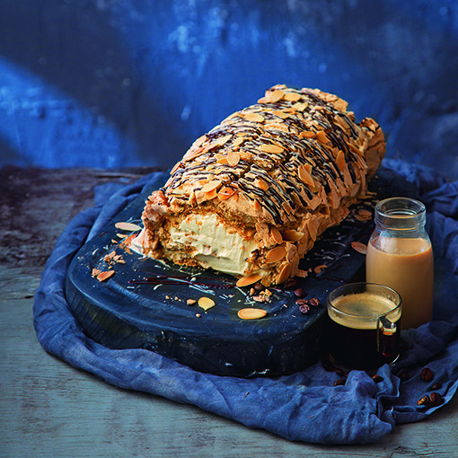 Edward Hayden's Baileys and almond roulade.