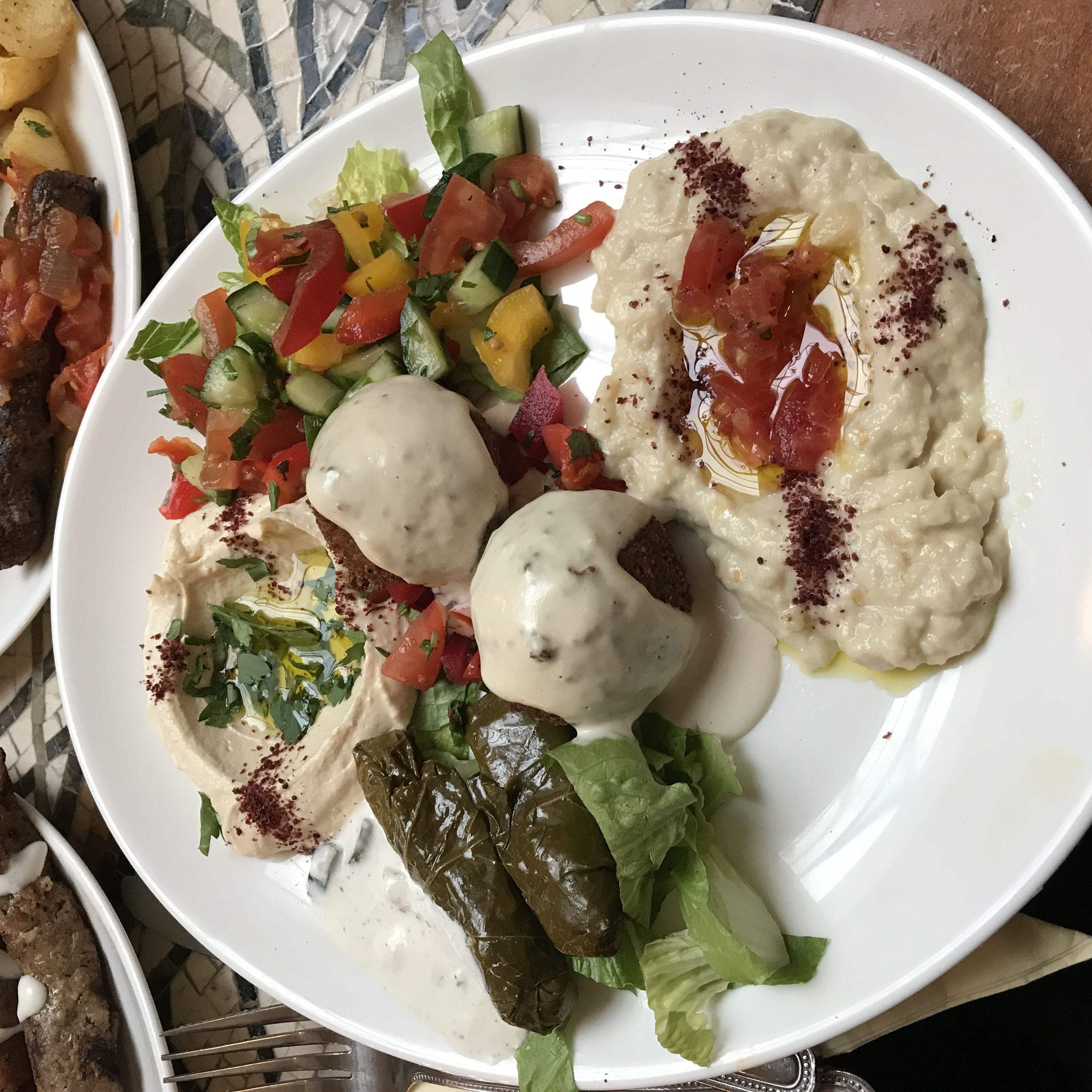 Falafel platter from The Cedar Tree.