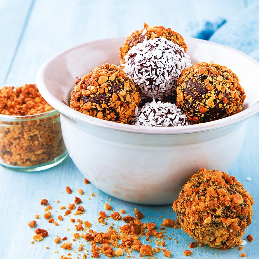Peanut butter protein balls and coconut espresso balss by Two Boys Brew. Photo by Harry Weir and Brian Clarke.