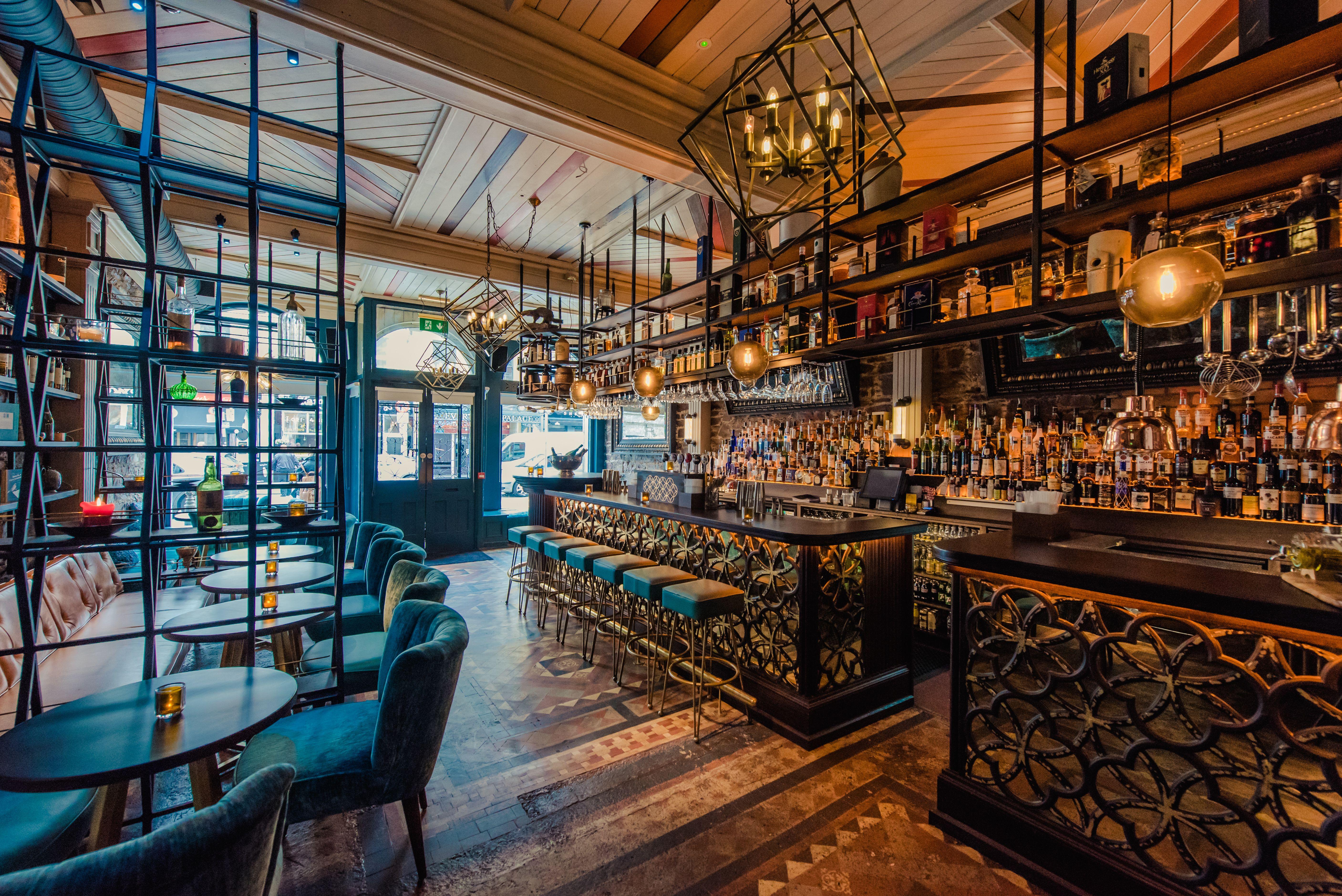 The bar's interior