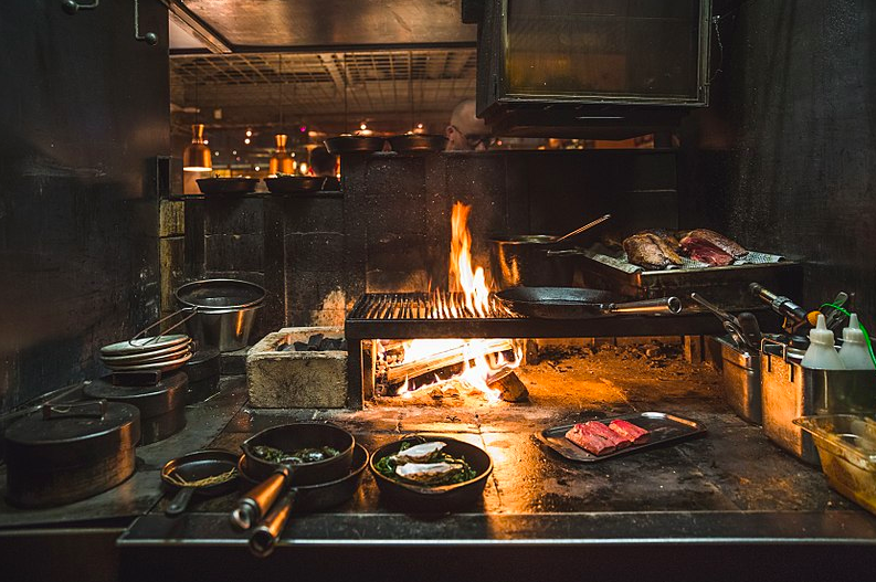 The open fire at @ekstedtrestaurant