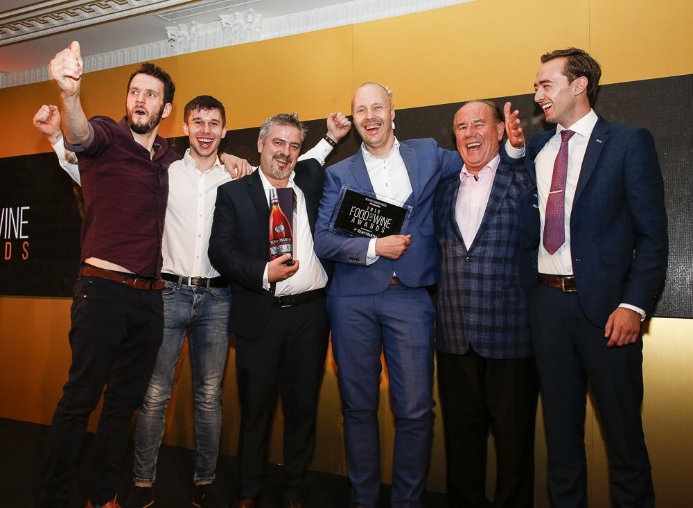 Pictured is the team from The Greenhouse in Dublin after being awarded Best Restaurant in Dublin. Photo by Paul Sherwood.