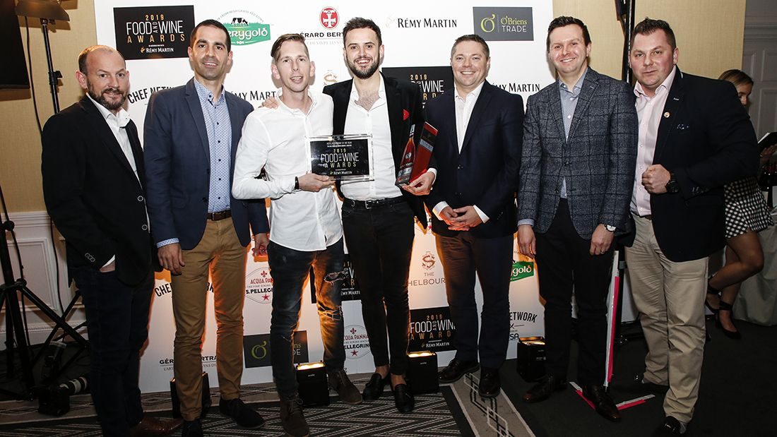 The team from Adare Manor at the 2019 FOOD AND WINE Awards. Photo Paul Sherwood.