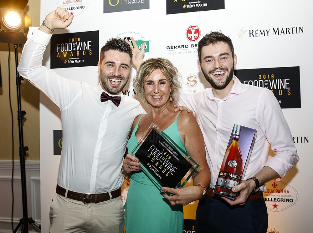 The team from No. Three Old Bar & Restaurant accepting their Readers' Choice Award. Photo: Paul Sherwood.
