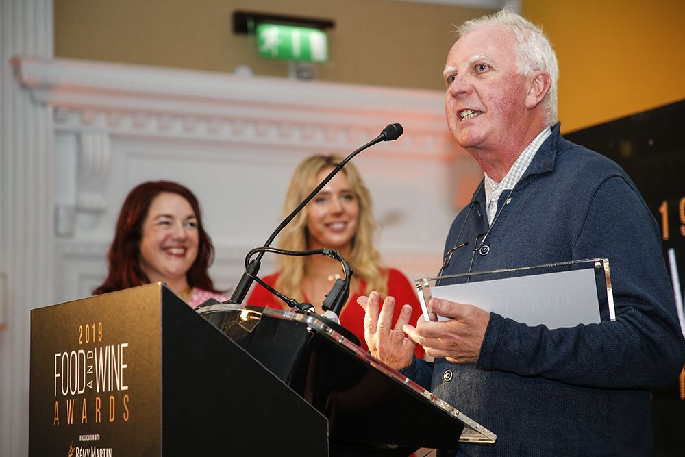 John McKenna making his acceptance speech. Photo: Paul Sherwood.