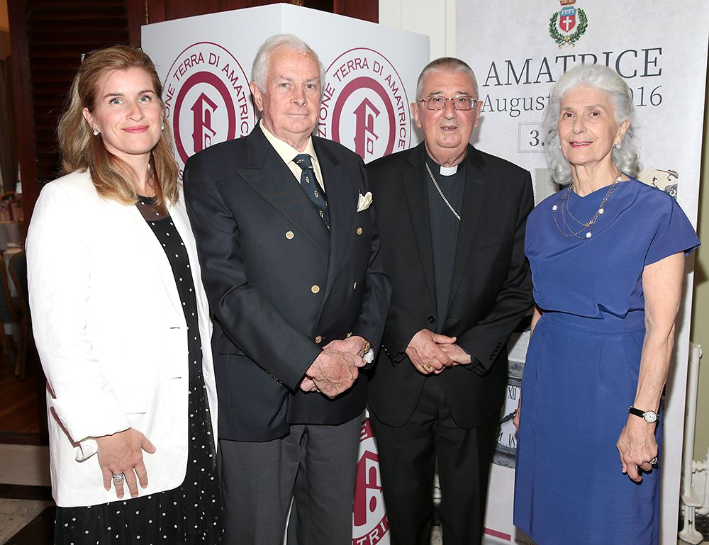 Alba Smyth, Michael Maughan, Diarmuid Martin D.D. Archbishop of Dublin  and Gemma Maughan pictured at an elegant evening to remember the town of Amatrice in northern Lazio central Italy at the An Evening To Remember Amatrice Event.