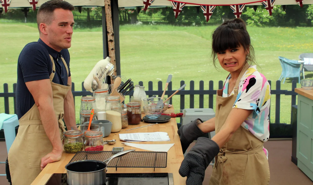 Steph and David, this week's two best contestants. Image from Channel 4.