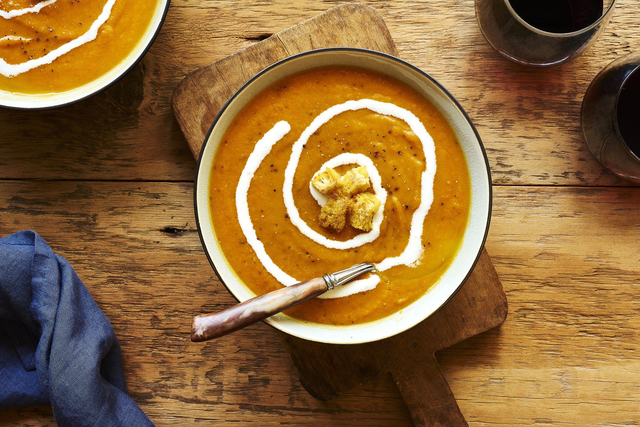 Squash and saffron soup. Getty Images.