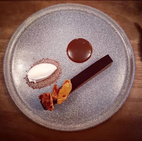 Chocolate delice from Sage. Photo by @jennifurpreston on Instagram.