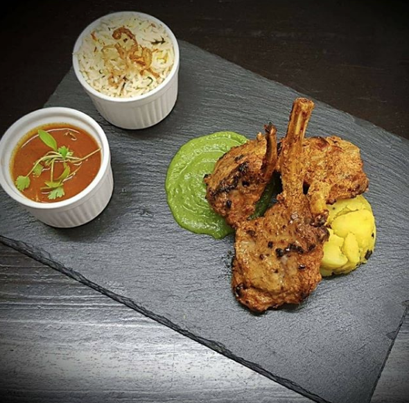 Kashmiri lamb chops from @pinksaltbray on Instagram.