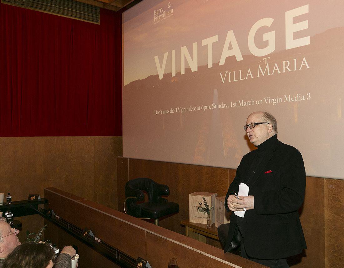 Tomás Clancy introducing Villa Maria Vintage. Photography by Paul Sherwood.