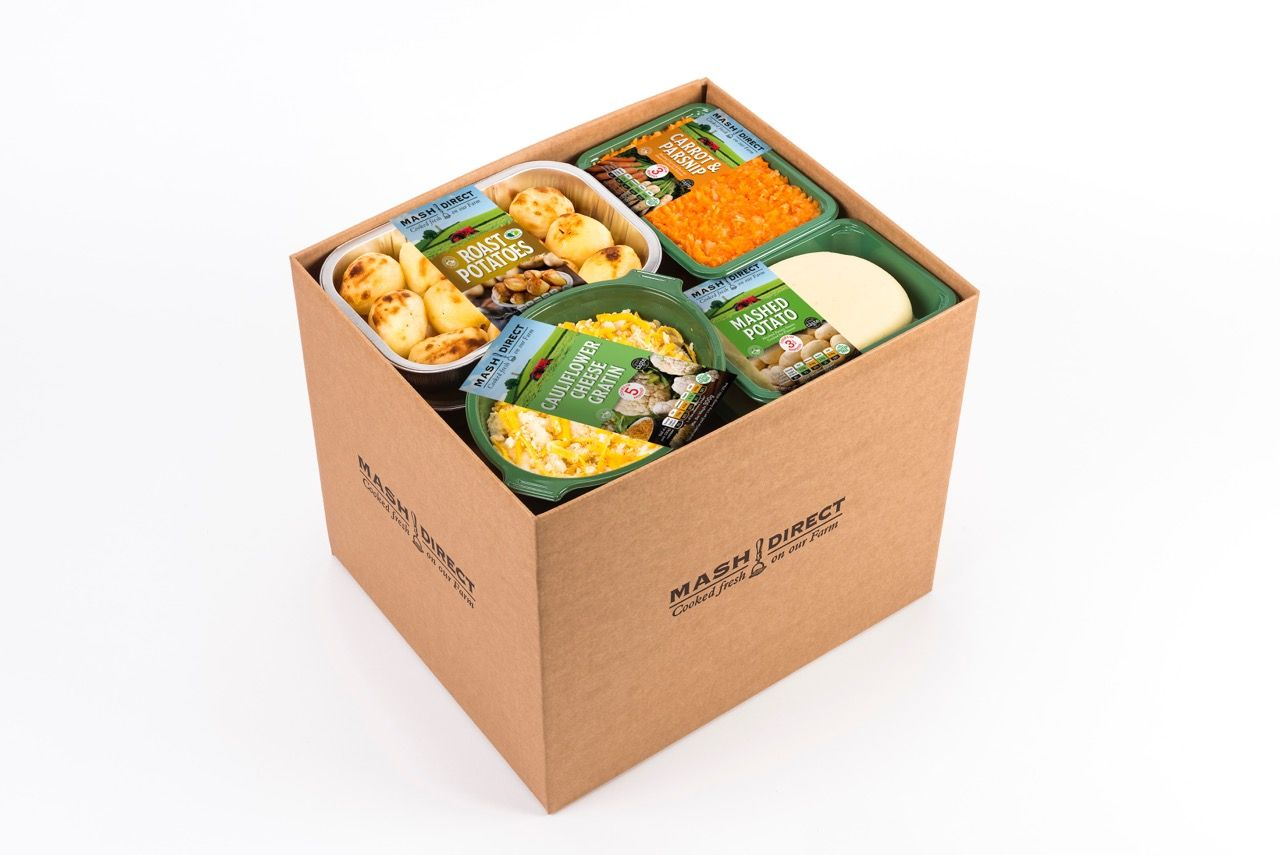 A sample Mash Direct delivery box.