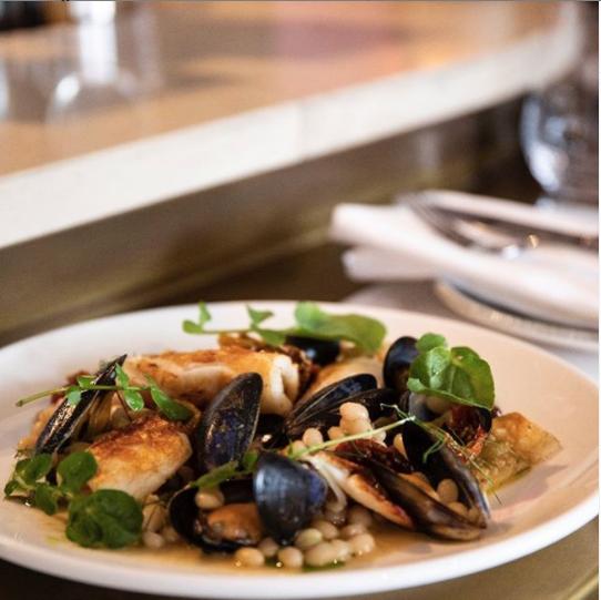 Braised squid, mussels, tomato and caper stew (Image:Instagram@goldierestaurant