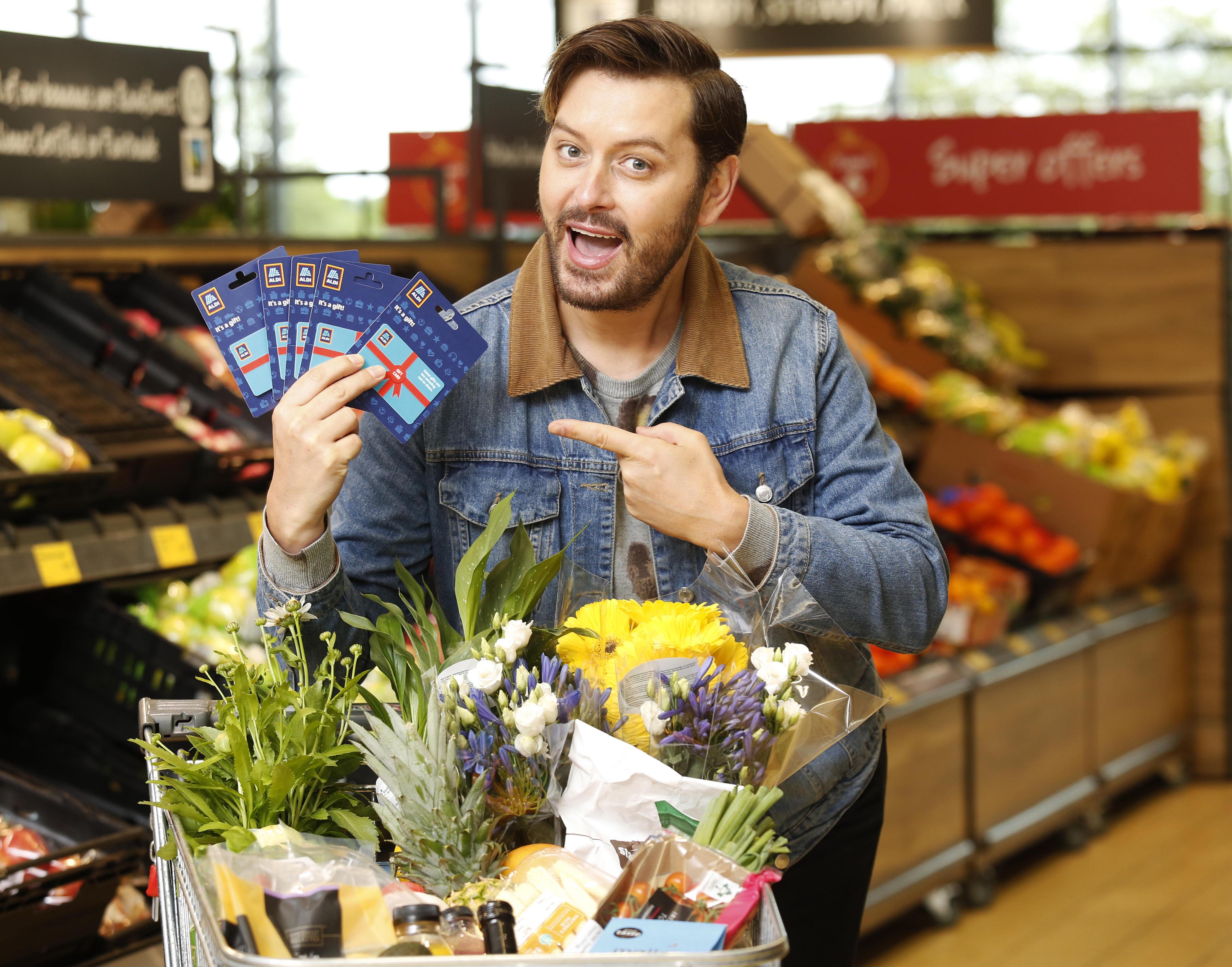 Presenter Brian Dowling launches the Aldi gift cards