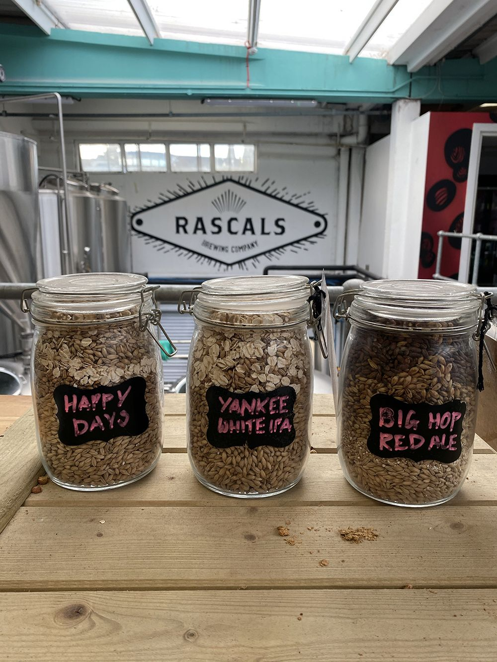 Some of the ingredients used in Rascals' most famous brews.