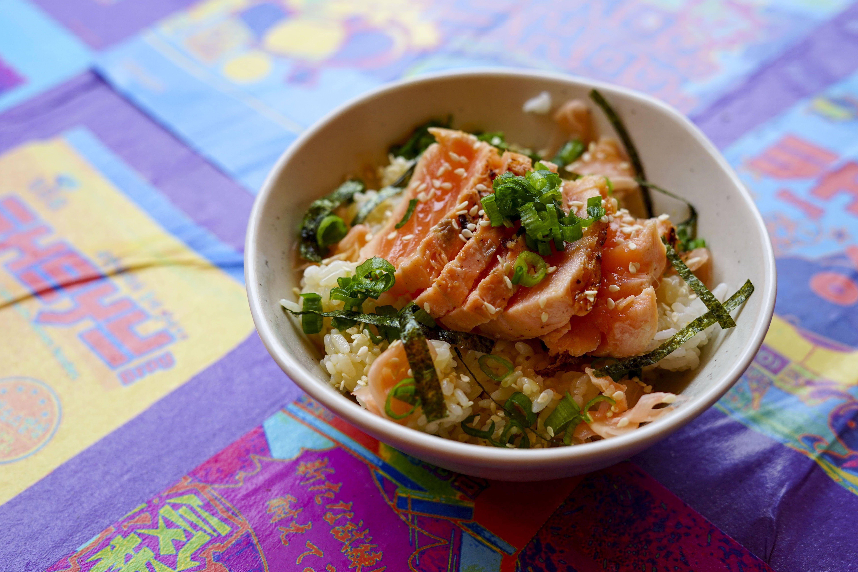 Salmon sushi bowl.