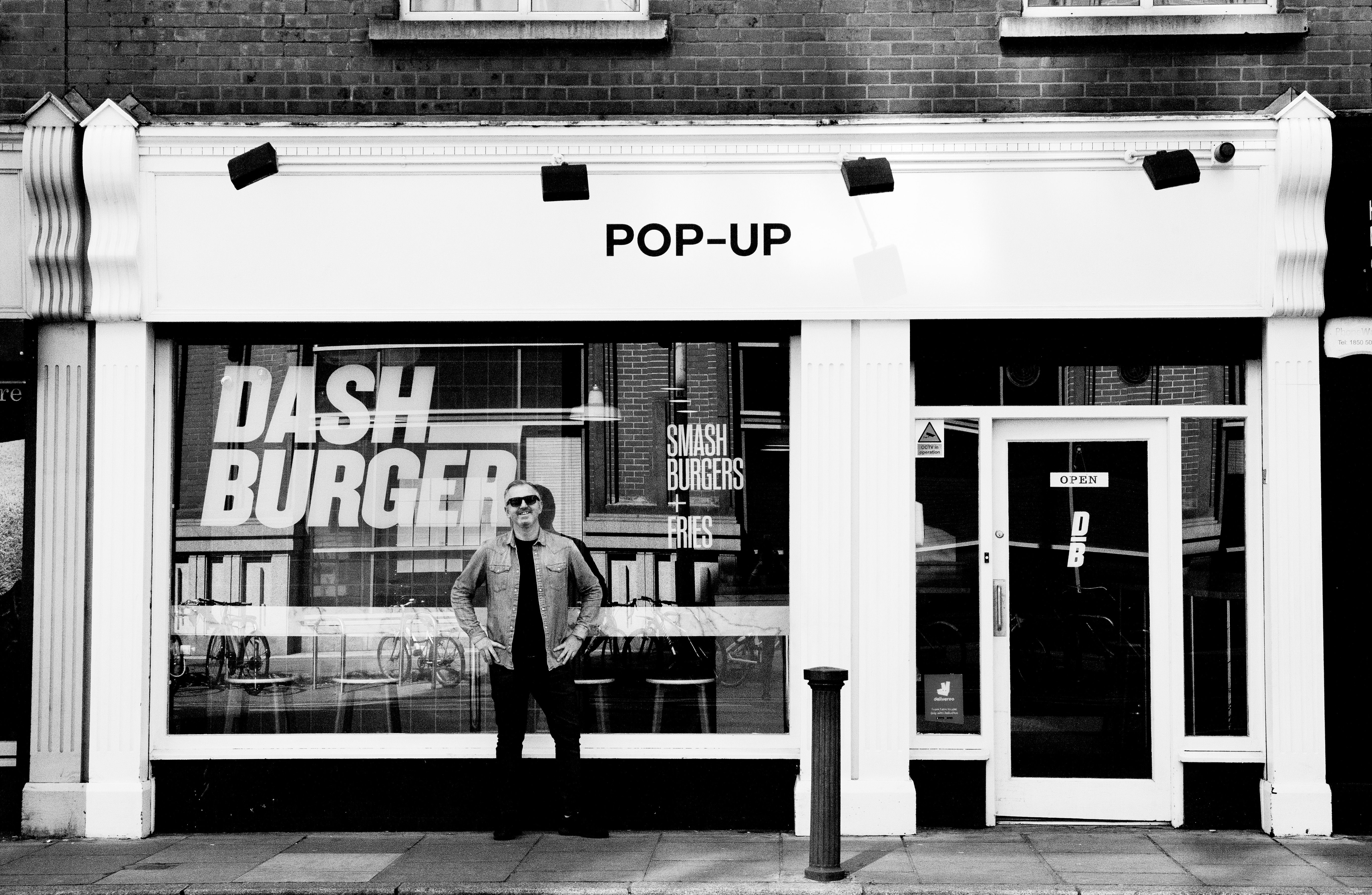 Barry Wallace outside Dash Burger.