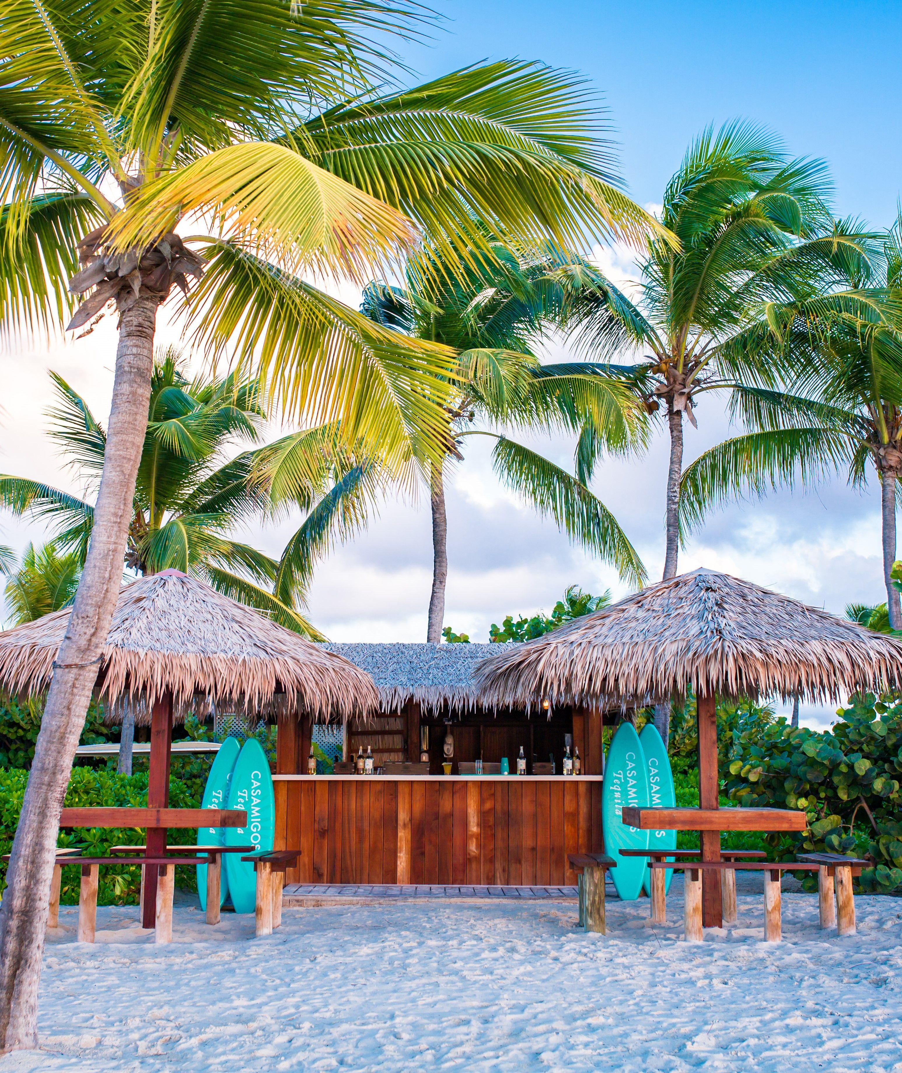 Casamigos Margarita Beach Shack pop-up at Jumby Bay Island