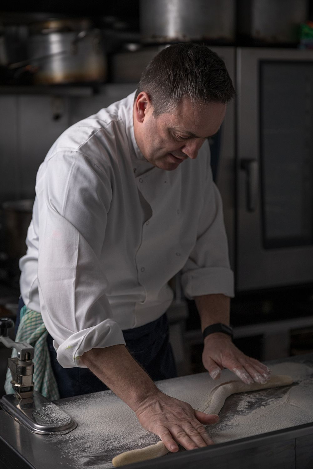 Chef Liam Moloughney of Monck's Green making homemade gnocchi. Photo by Ruth Calder-Potts.