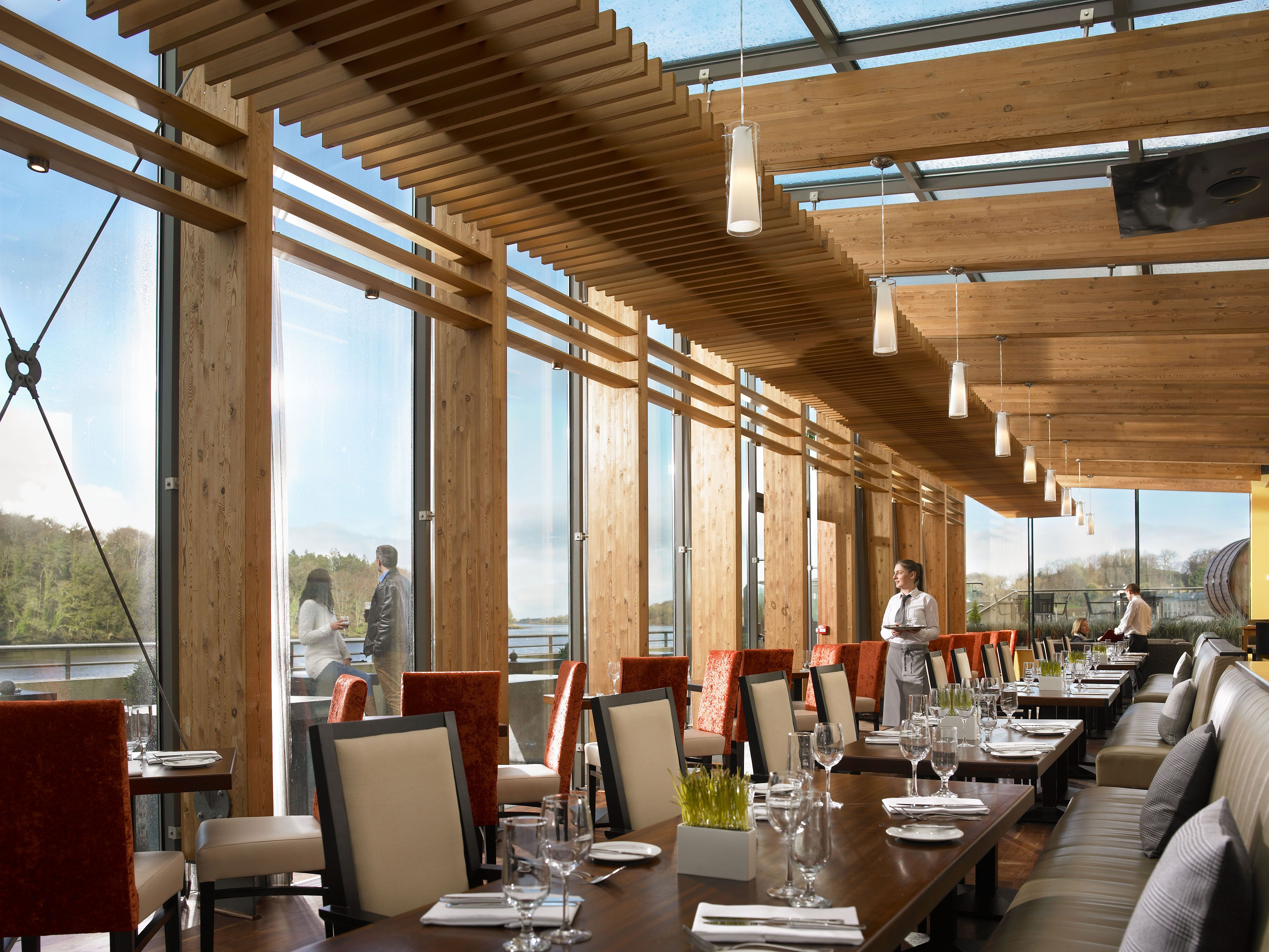 The Riverview Restaurant at the Ice House Hotel.