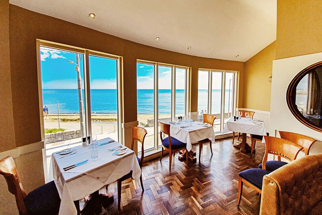 The dining room at King Sitric in Howth.