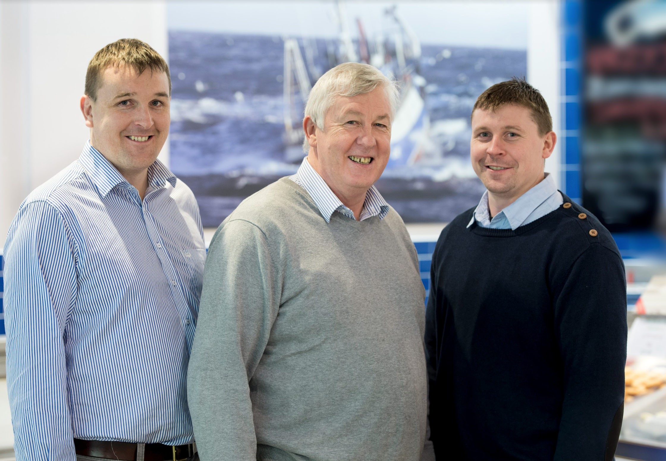Colman Keohane of Keohane Seafood with his father Mike and brother Brian Keohane