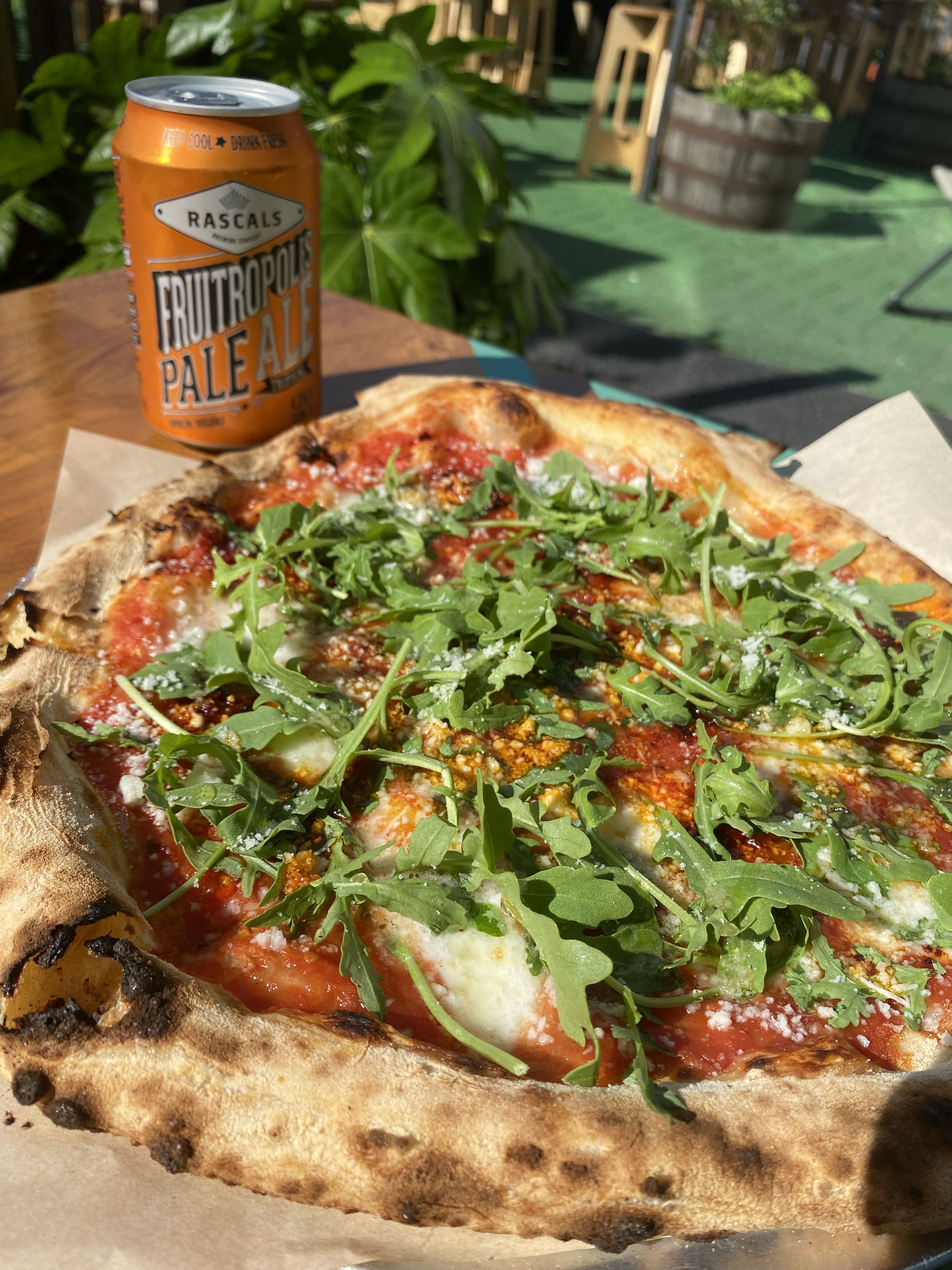 Light My Fire Pizza with Fruitropolis Pale Ale