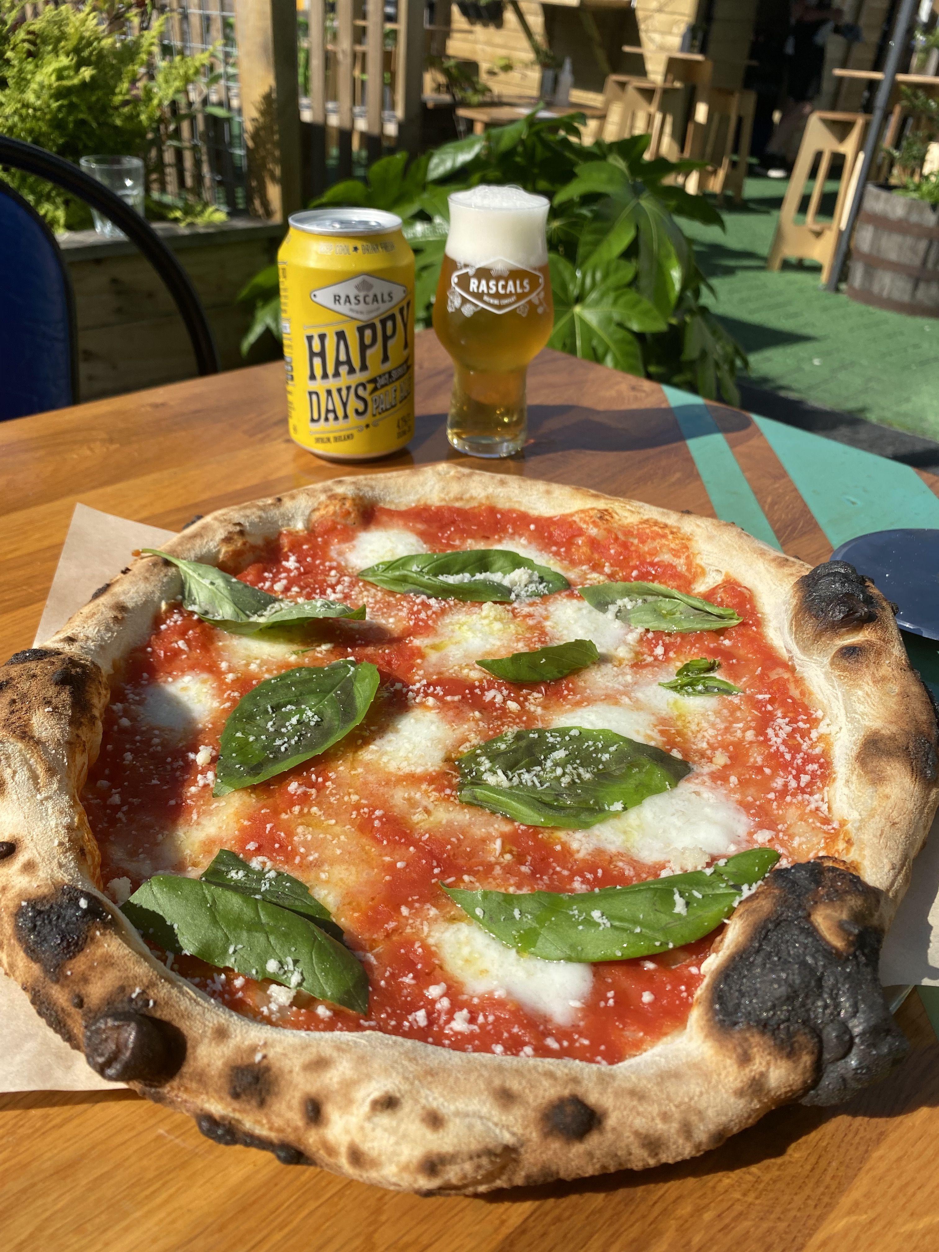 The Buffalo Saints pizza with Happy Days