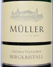 Müller  Grüner Veltliner Bergkristall  2012